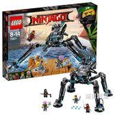 樂高積木樂高幻影忍者系列70611水忍者的水上戰斗機甲LEGO積木玩具xw