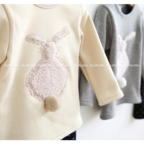 童裝厚款長袖上衣 胖兔不倒絨長袖T恤 CA11708 好娃娃