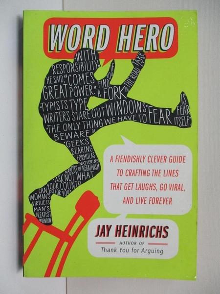 【書寶二手書T1/字典_CFL】Word Hero: A Fiendishly Clever Guide to Crafting…