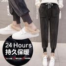 【加絨加厚】金絲絨素面縮口運動褲 2色 M-2XL碼【RK67250】