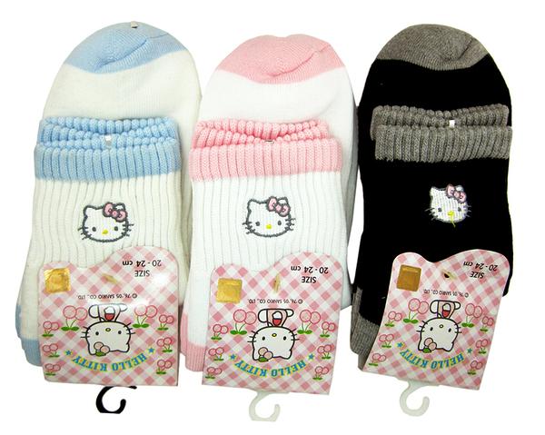 【卡漫城】 Hello Kitty 運動襪 襪子 20-24cm 三色可選 ㊣版 短統襪 凱蒂貓 台灣製 保暖 成人可穿