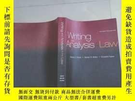 二手書博民逛書店Writing罕見and Analysis in the Law法律寫作與分析Y12880 elene S.