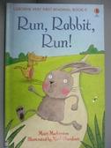 【書寶二手書T1/兒童文學_KLK】Run Rabbit Run (Usborne Very First Reading)_Mairi Mckinnon