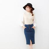 東京著衣-夢展望-圓領針織背心長袖上衣-M.L(4190037)