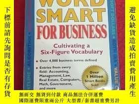 二手書博民逛書店Word罕見Smart for Business: Cultivating a Six-figure Vocabu