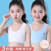 3件裝 女童小背心發育期內衣少女中大童純棉女孩學生【大碼百分百】