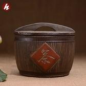 收納茶葉罐-紫砂精緻逼真復古木桶醒茶泡茶品茗普洱茶罐2款71d36【時尚巴黎】