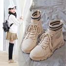 女童馬丁靴2019年新款秋季英倫風加絨時尚冬款靴子中大童兒童短靴