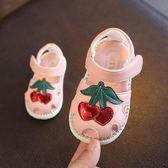 夏季新款學步鞋嬰兒涼鞋女夏0-1-2歲女寶寶軟底防滑寶寶公主鞋子禮物限時八九折