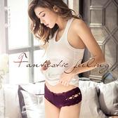 內褲 Ladoore 誘惑犯罪 交叉簍空高質感小褲(紫)