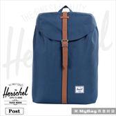 Herschel 後背包 深藍色 束口設計13吋筆電後背包 Post-007 MyBag得意時袋