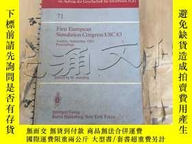 二手書博民逛書店First罕見European Simulation Comgr