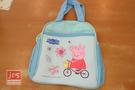 Peppa Pig 粉紅豬小妹 佩佩豬 便當袋 腳踏車 藍 PP26311A