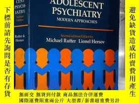 二手書博民逛書店CHILD罕見AND ADOLESCENT PSYCHIATRY