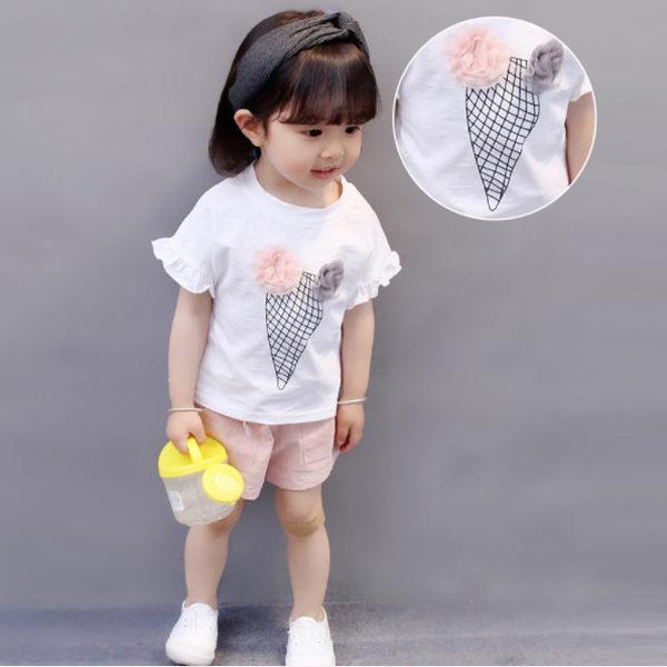 兩件式 / 上衣 / 洋裝 / 冰淇淋 / 女孩套裝(白色) Baby Bundle