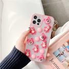 草莓熊抱哥巧克力豆 適用 iPhone12Pro 11 Max Mini Xr X Xs 7 8 plus 蘋果手機殼