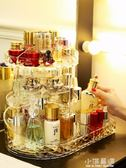 簡約旋轉化妝品收納盒家用梳妝台護膚口紅桌面置物架大容量CY『小淇嚴選』