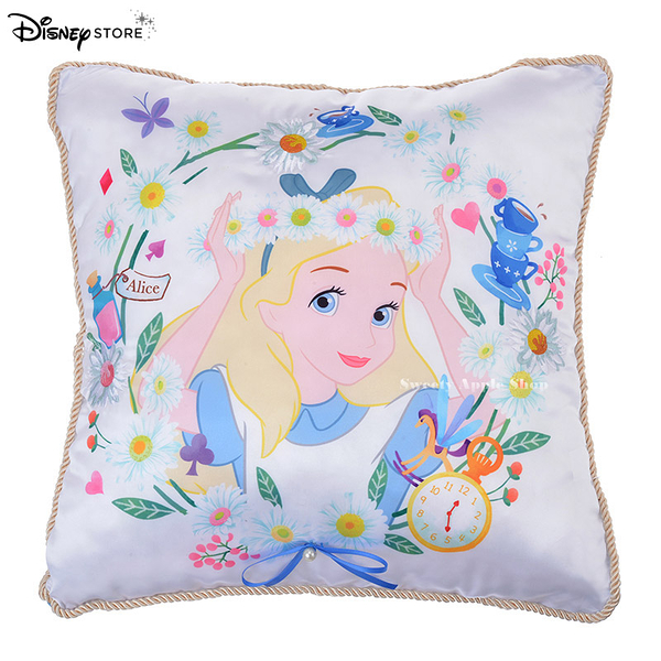 日本 Disney Store 迪士尼商店限定 愛麗絲  Garden Fantasy 抱枕 / 靠枕