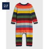 Gap男嬰兒柔軟舒適條紋針織一件式包屁衣513663-海軍藍基調