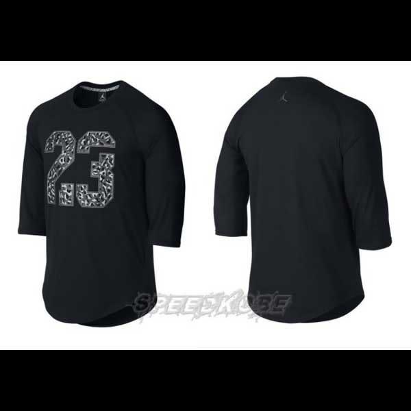 Nike Jordan As 3/4 TOP 七分袖 爆裂23 黑色 # 718762-013 ☆speedkobe☆