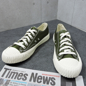 X-INGCHI 男款綠色帆布餅乾鞋-NO.X0023