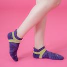 【 Footer 除臭襪】繽紛花紗輕壓力足弓船短襪 紫 22-25CM 女 (任選6雙960元)
