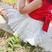 女童半身裙 女童短裙寶寶半身裙蕾絲網紗百搭嬰兒裙子 傾城小鋪