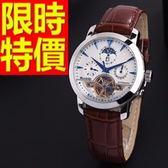機械錶-陀飛輪鏤空有型自信男手錶12色54t8【時尚巴黎】