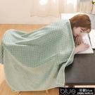 毛毯 北歐華夫格毛毯辦公室午睡毯子午休小披肩蓋腿空調毯夏季毛巾被薄