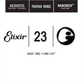 【缺貨】Elixir 木吉他弦 14123 第3弦 Phosphor Bronze 磷青銅 紅銅 Nanoweb /單弦 .23 elixir零弦 台灣公司貨