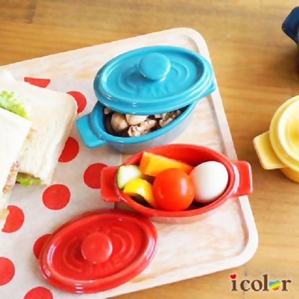 i color 迷你彩色鍋造型焗烤皿(橢圓型)