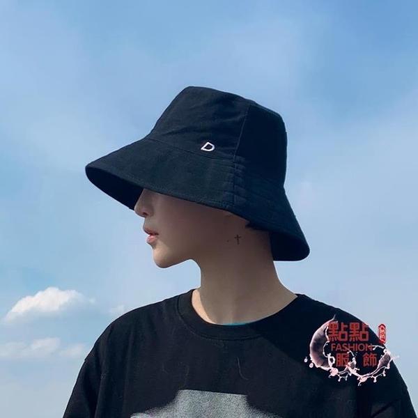 漁夫帽男 帽子遮陽帽男防曬黑色漁夫帽嘻哈ins夏季薄款大檐男生遮陽 HH205
