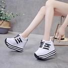 鬆糕鞋 內增高鞋2021夏秋新款韓版運動鞋內增高女鞋松糕厚底學生跑步鞋休閒鞋單鞋