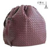 【巴黎站二手名牌專賣店】*現貨*BOTTEGA VENETA BV*經典手工編織斜背包(紫色)