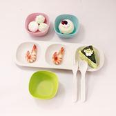 竹纖維餐具三格盤 寶寶輔食分格盤小碗叉勺套環保無毒吾本良品