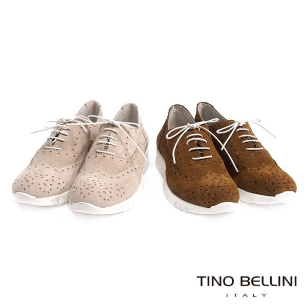 Tino Bellini 義大利進口人文牛津混搭運動休閒鞋(棕)_B63024  2016SS歐洲進口款