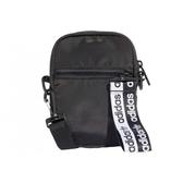 ADIDAS 側背包 小包 黑白 串標拉條 肩包 (布魯克林) FL9671