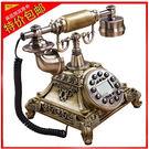 設計師美術精品館特價歐式仿古時尚轉盤電話機復古老式創意家用田園座式辦公電話