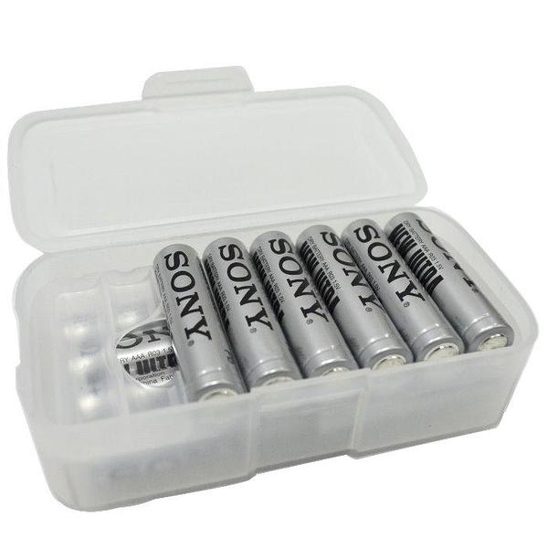 【DC204】電池盒-雙層 電池盒3號電池 4號電池均可用 鋰電池盒 充電電池盒★EZGO商城★