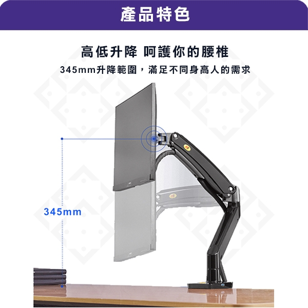 NB F100A / 22-35吋液晶電視螢幕壁掛架《適用電競螢幕》 螢幕架 螢幕支架
