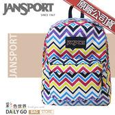 JANSPORT後背包包大容量JS-43501-0JS俏皮山形紋