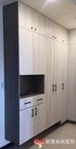 【歐雅 系統家具 】玄關鞋櫃搭配穿衣鏡