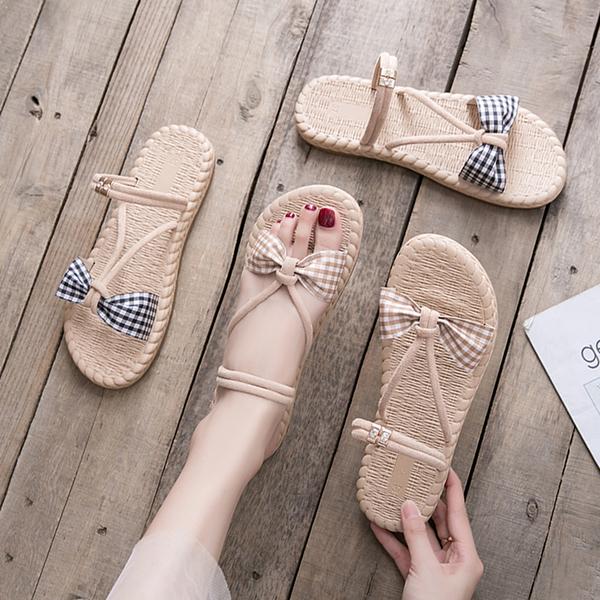 平底涼鞋女仙女風2020夏季新款網紅百搭沙灘兩穿涼拖鞋外穿ins潮 快速出貨