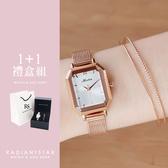 女人愛美愛自己歲月的餘溫1+1獨家超值禮盒手錶鈦鋼手環二件組【WKTL1181-537】璀璨之星☆