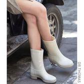 1212年終盛典 雨鞋女韓國可愛夏季時尚中筒水靴休閑套鞋防滑水鞋膠鞋成人雨靴詩篇官方旗艦店