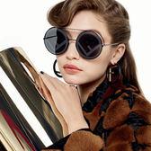 FENDI 墨鏡 經典LOGO 大圓框 太陽眼鏡 FF0285S 黑框 久必大眼鏡