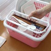 瀝水架碗柜帶蓋碗碟架裝碗筷收納箱置物架【聚寶屋】