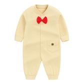 嬰兒秋裝純棉哈衣一歲春秋外出男寶寶服裝12紳士連身裝6個月