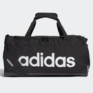 ADIDAS LINEAR LOGO DUFFEL (S) 旅行袋 手提袋 健身 黑 【運動世界】FL3693