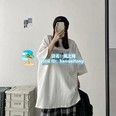 大碼T 恤胖mm 特大碼女裝 300 斤短袖t 恤女寬鬆 學生百搭半袖上衣~風之海~